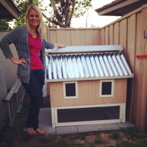 The coop the kids and I built for the girls